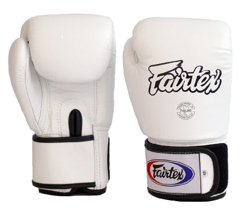 Fairtex Muay Thai Universal Boxing/Training/Bag Gloves BGV1 White (16 ()