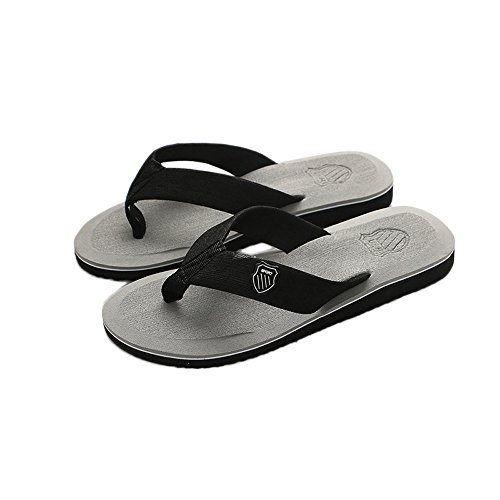- Londony♪ Women's Tide Rhinestones Toe-Post Sandal - Ladies Flip-Flop with Concealed Orthotic Arch Support Gray