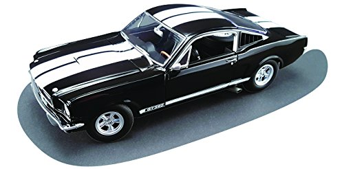 1965 Ford Shelby Mustang GT 350 Black with White Stripes Dealer Exclusive Estimated Production of 350pcs 1/18 by Acme A1801802B by Ford (Image #5)