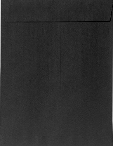 6 x 9 Open End Envelopes - Midnight Black (50 Qty.)