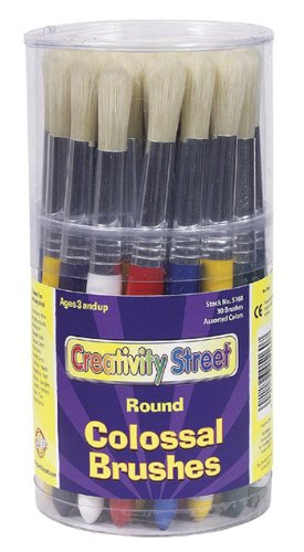 (Colossal Round Wood Handle Brush by Chenille Kraft)
