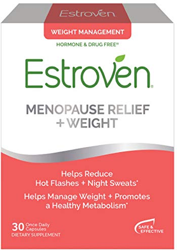 Estroven Weight Management | Menopause Relief Dietary Supplement | Safe Multi-Symptom Relief | Helps Reduce Hot Flashes & Night Sweats* | Helps Manage Weight* | Drug Free & Estrogen Free* | 30 Caplets (Best Herbal Supplement For Menopause Symptoms)