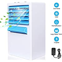 Personal Air Cooler,serene freestyle Mini Desktop Air Conditioning Fan,3-in-1 Portable Table Fan with 3 Fan Speeds, Mini Air Conditioner for Home & Office,