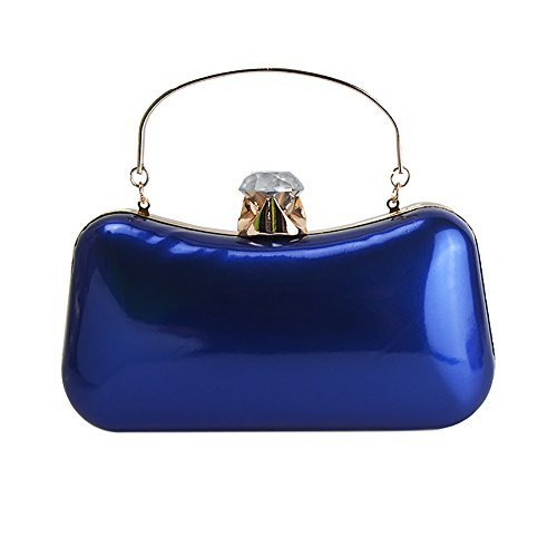 Blue Shoulderbag Bag Handbag QZUnique Purse Evening Clutch Luxury 1 Women's Elegant wqZOq7z