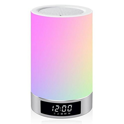 Areskey LED Bluetooth Speaker Lamp Bedside Lamp Night Lig...