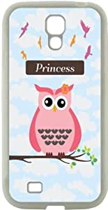"Rikki KnightTM ""Princess\"" Pink Chevron Name Design Samsung\xae Galaxy S4 Case Cover (Black Hard Rubber TPU with Bumper Protection) for Samsung Galaxy S4"