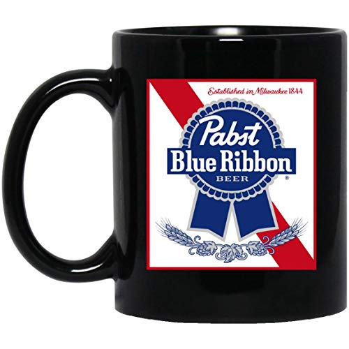 Fashion Mens'Youths Pabst Blue Ribbon White Coffee Mug (Black Mug ()