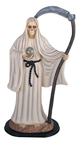 24 Inch White Santa Muerte Saint Death Grim Reaper Statue Figurine by GSC