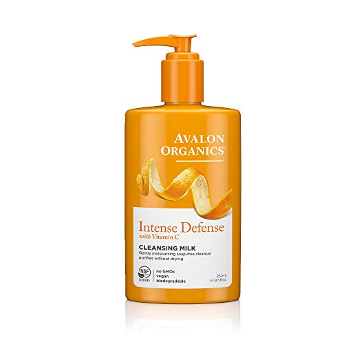 Avalon Organics Intense Defense Cleansing Milk, 8.5 oz. (Pack of 2)