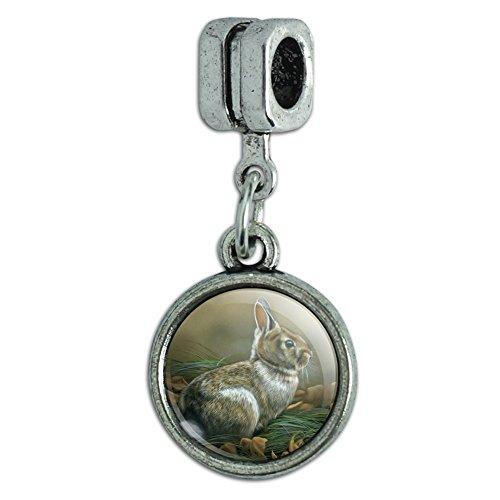 GRAPHICS & MORE Cottontail Rabbit Bunny Italian European Style Bracelet Charm Bead