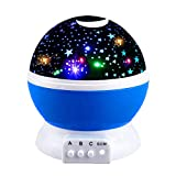 Cool Fun New Toys for 2-10 Year Old Boys, WIKI Popular LED Night Light Lamp Relaxing Light for Kids Moon Star Toys for 2-10 Year Old Girls 2018 Christmas Gifts for 2-10 Year Old Boys Gifts for 2-10 Year Old Girls Stocking Suffer Blue WKCAXKD02