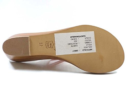 Zapatos Mujer EDDY DANIELE 37 Sandalias Naranja Gamuza AX695
