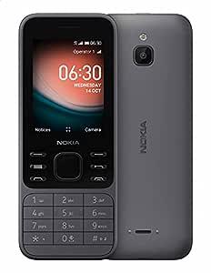 Nokia 6300 4G Dual Sim Mobile, 2.4 Inches, 4 GB, 512 MB RAM, 4G - Light Charcoal