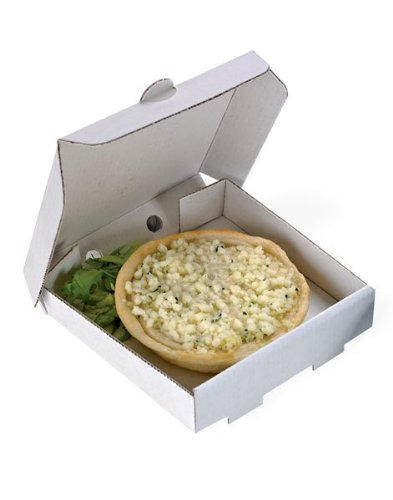 PacknWood Square Cardboard Mini Pizza Box, 3.5 x 3.5 (Case of 500) 210MINIPIZZ