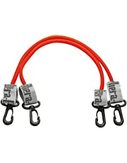 TheraBand Wellness Station Professional Latex Resistance Tubing with Connectors for Physical Therapy, Exercise Station for Rehab, Lower Pilates, Set of 2, 24 Inch, Red, Medium, Beginner Level 3