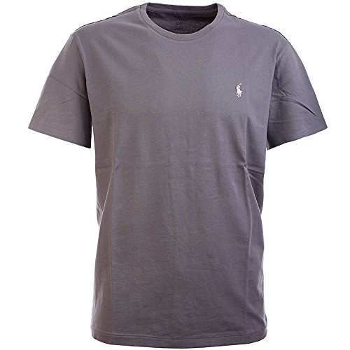 Polo Ralph Lauren Mens Pony Logo T-Shirt (Grey, X-Large)