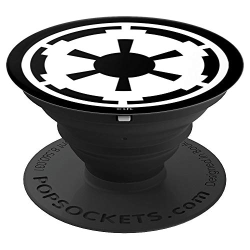 Star Wars Empire Emblem Simple Black And White - PopSockets Grip and Stand for Phones and Tablets