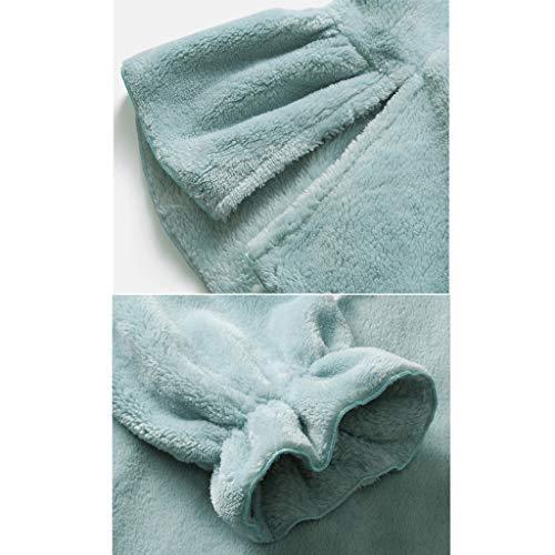 color Grueso Para Invierno Hogar Pijamas Dormir Mujer Blue Blue 165 De L Size Largos Ropa Servicio Cálido xgwqTPqz