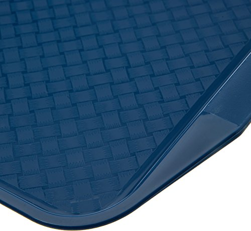 Carlisle CT121714 Cafe Handled Plastic Cafeteria/Fast Food Tray, NSF Certified, BPA Free, 17'' Length x 12'' Width, Blue (Pack of 24) by Carlisle (Image #2)
