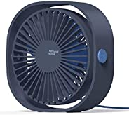 COMLIFE USB Desk Fan,360°Rotation Portable Fan,USB Operated Fan with 3 Speed &Powerful Airflow for Home Of