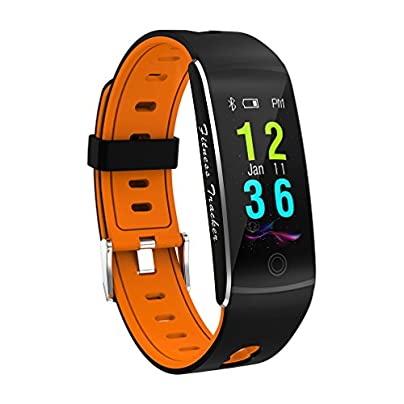 MTTLS Fitness Tracker Smart Bracelet F10 Color Display Heart Rate Monitor IP68 Waterproof Touch Screen Bluetooth Pedometer Wristband Sleep Monitor For Women Men Android And IOS Orange Estimated Price -