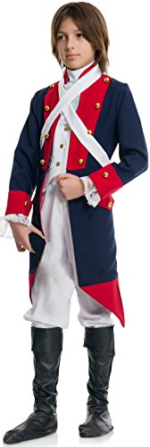 Charades Revolutionary Soldier Children's Costume, -