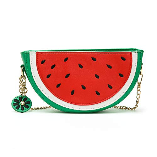 Summer Beach Bag for Womens Cute Watermelon Small Phone Purse Wallet with Shoulder Strap -