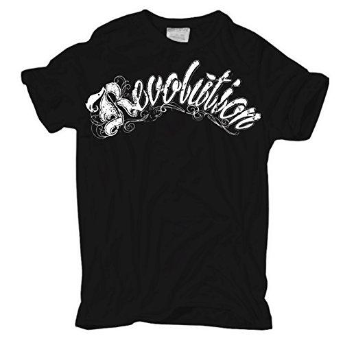 Männer und Herren T-Shirt Revolution (mit Rückendruck)