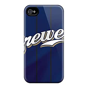 Iphone High Quality Tpu Case/ Milwaukee Brewers QYX4083OQMu Case Cover For Iphone 4/4s