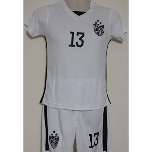 be1917f35 13 Alex MORGAN USA (Girls) Home 2015-16 World Cup Soccer Kid Jersey ...