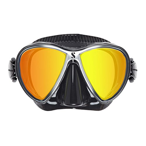 Synergy Twin Dive Mask, W/ Mirrored Lens, Silver (Dive Scuba Diving Mask W)