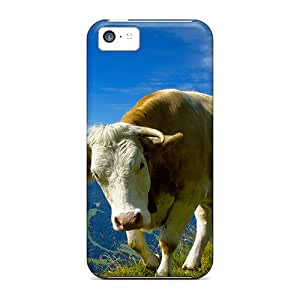 AniamlCaseZone Premium Protective Hard Case For Iphone 5c- Nice Design - Holy Cow