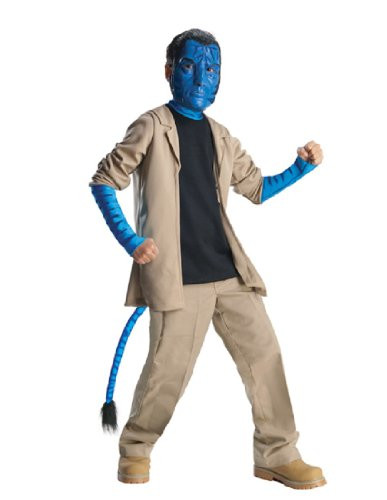 [Avatar Child's Deluxe Costume And Mask, Jake Sully Costume-Medium] (Scully Costumes)
