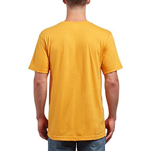 Volcom Men's Crisp Euro Short Sleeve Tee, Tangerine, L