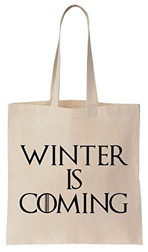 Winter Is Coming Quote Sacchetto di cotone tela di canapa