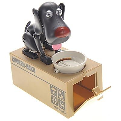 CHIMAERA Black Robotic Coin Munching Dog Piggy Bank: Toys & Games