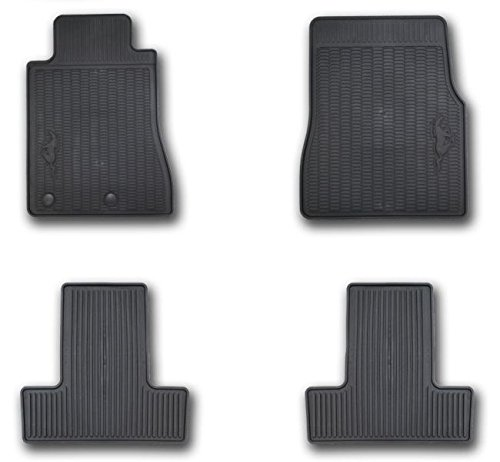Ford CR3Z-6313300-AA Floor Mats-All-Weather Thermoplastic Rubber, Black 4-Piece Set