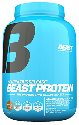 Beast Sports Nutrition Beast Protein 25 Grams of High-Quality Protein with 5 Protein Sources for Lean Muscle including Whey Concentrate and Isolate. Low Fat Low Carbs. 4lbs, 52 Servings, - Quality Protein Whey High