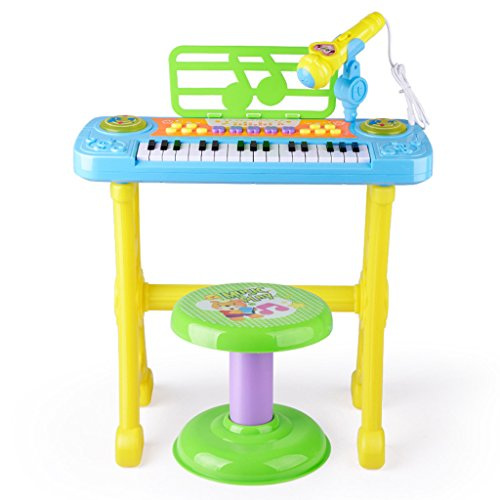 DUWEN Keyboard Children's Multi-function Electronic Keyboard Stool Mini Hand Simulation Instruments Small Piano Boys And Girls Early Childhood Education by DUWEN
