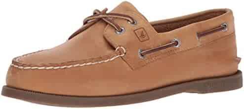Sperry Top-Sider Men's Authentic Original 2-Eye Boat Shoes, Genuine All Leather and Non-Marking Rubber Outsole