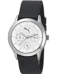 Puma Women's Motor PU102682001 Black Plastic Quartz Watch with White Dial