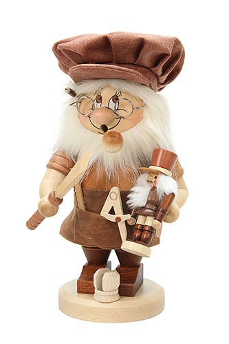 German Incense Smoker Gnome German Christmas Nutcracker maker - 28cm / 11 inches - Christian Ulbricht by Authentic German Erzgebirge Handcraft