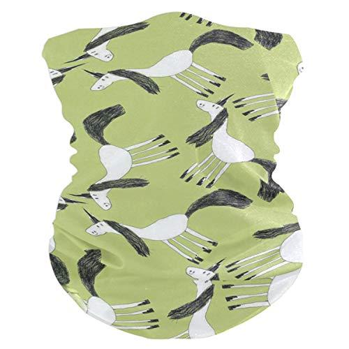 Green Unicorn Balaclava Womens Headband Scarf Mens Versatile Bandana, Muffler, Neck Gaiter, Magic, Foulard Headwear