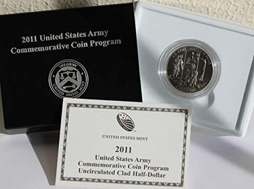 2011 D US Army Commemorative Brilliant Uncirculated Half Dollar BU OGP Box w/COA US Mint