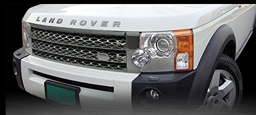 R&L Racing 05-09 Land Rover Lr3 Discovery 3 Gray Honeycomb Mesh Front Hood Grill Grille Abs