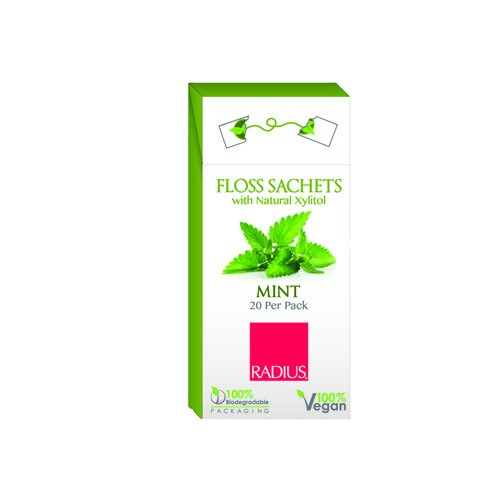 2 Packs of Radius Floss Sachets With Natural Xylitol - Mint - Case Of 20 by RADIUS (Image #1)