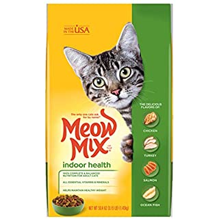 Meow Mix Indoor Formula Dry Cat Food, 3.15 Pounds (Pack of 4)