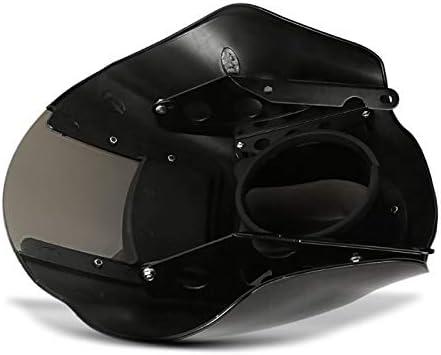 Lampenmaske MG8 f/ür Harley Dyna Street Bob 06-17 Lampen Verkleidung rauchgrau