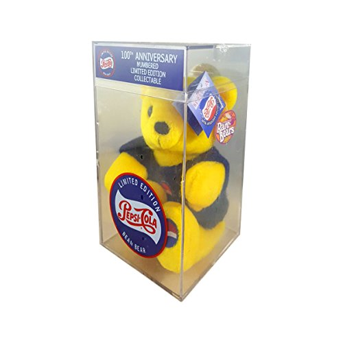TMI 1999 Pepsi 100th Anniversary Bean Plush Yellow Bear in Case Limited Edition Collectible ()