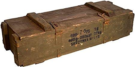 Caja de municiones de madera vintage.: Amazon.es: Jardín